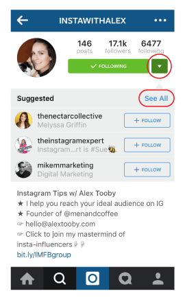 Instagram New Features - See All Suggested Users