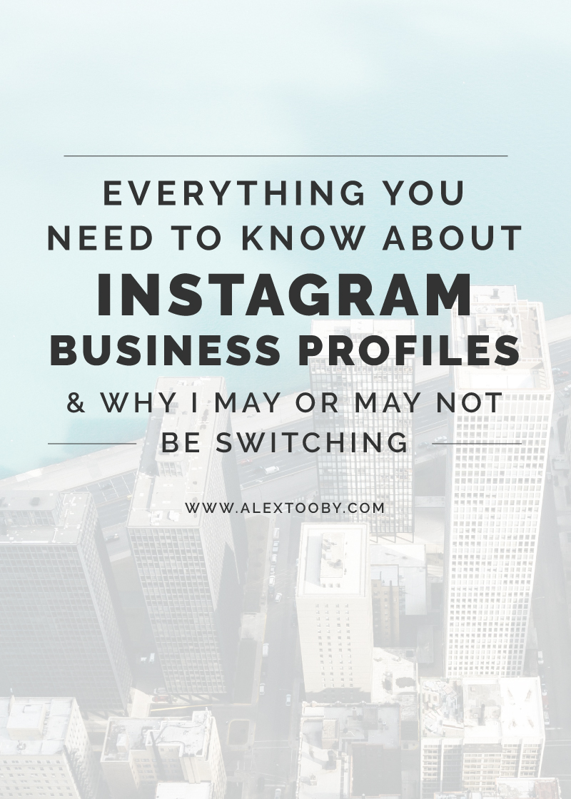 Have you been considering switching to an Instagram Business Profile? Or maybe you already did but aren't quite sure if it was the right decision? Read this blog post by Instagram Expert, Alex Tooby and find out exactly what she thinks!