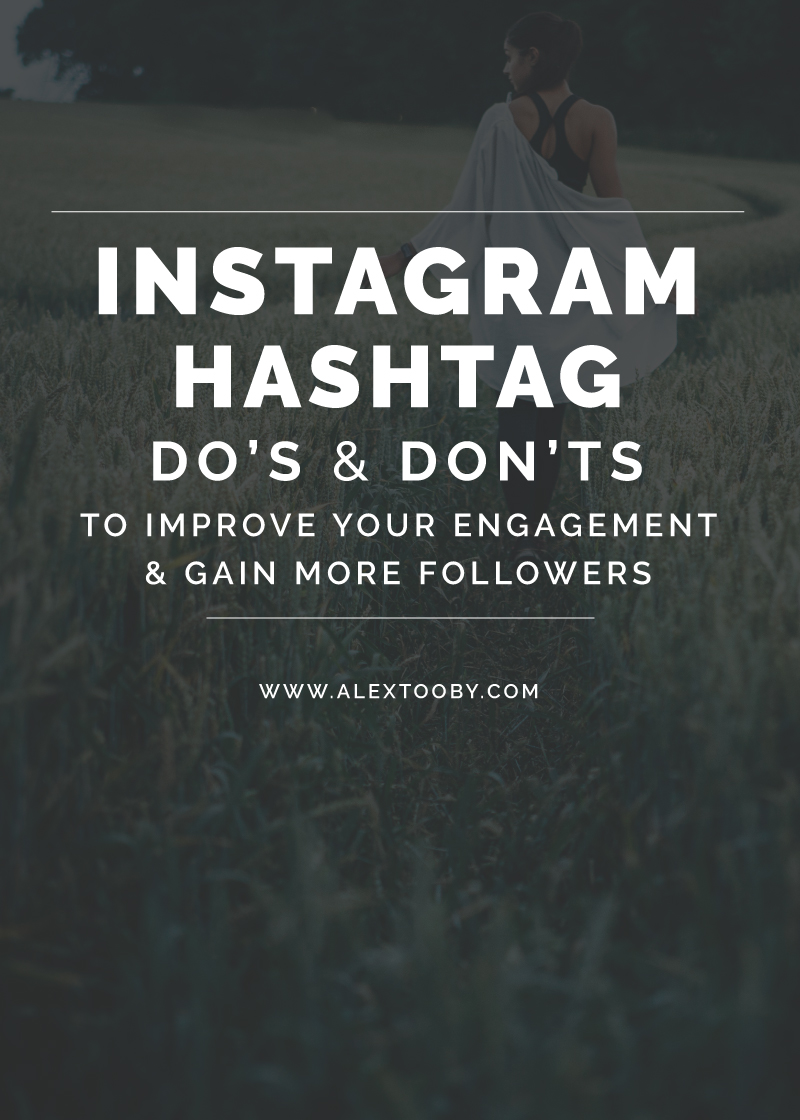 Let's talk Instagram Hashtags.. Sure they seem simple, but seriously, which ones am I supposed to use? Which ones will actually get me the most likes? Followers? Potential clients? Instagram expert Alex Tooby shares her top 10 do's and dont's for Instagram Hashtags and the might just blow your mind! Must read!