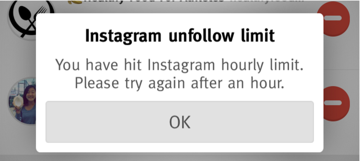 Instagram Shadowban - Instagram follow/unfollow limits