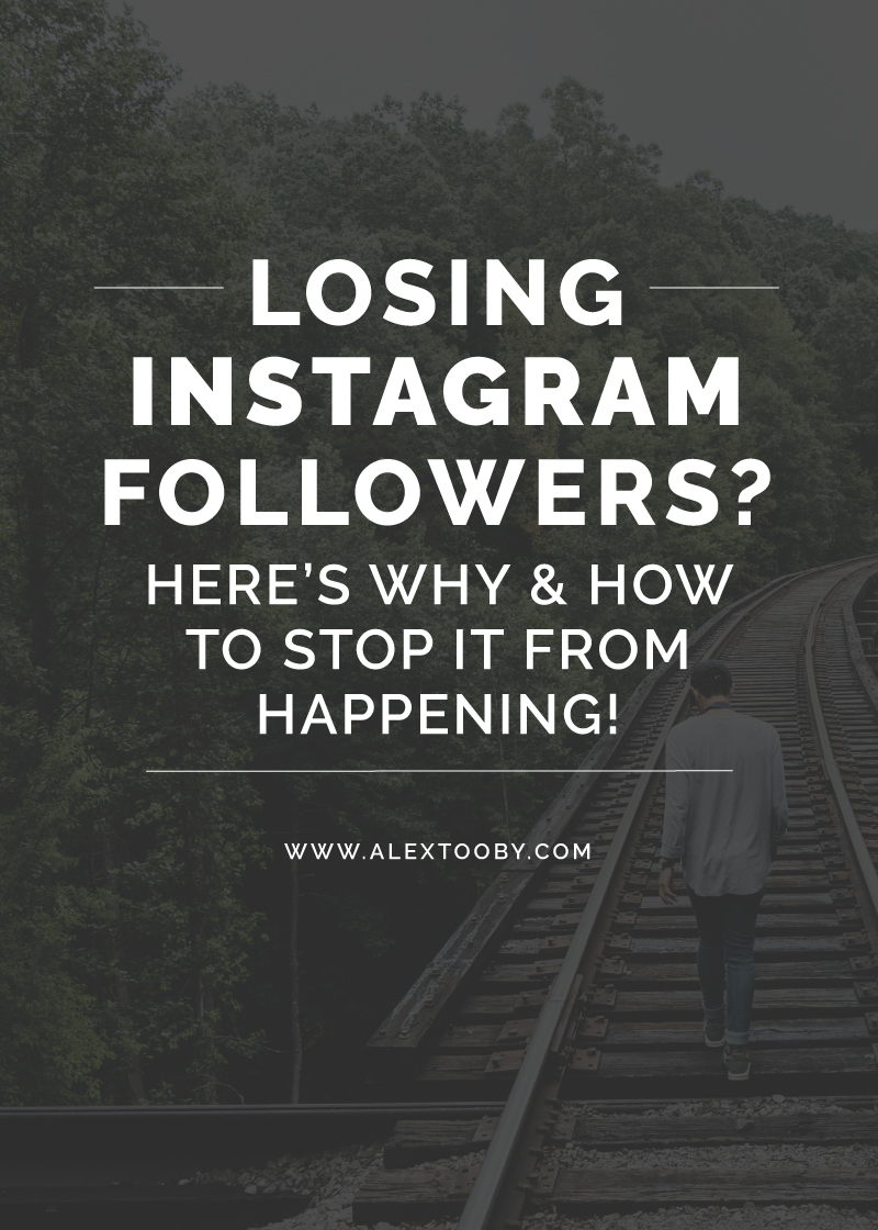 Are you continually losing followers on Instagram? Is your account growth stagnant? It happens, but luckily there are ways to turn it around! Instagram expert Alex Tooby shares 10 reason why you may be losing Instagram followers and how to stop it from happening. Great read!