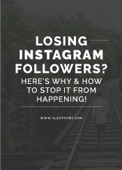 losing instagram followers