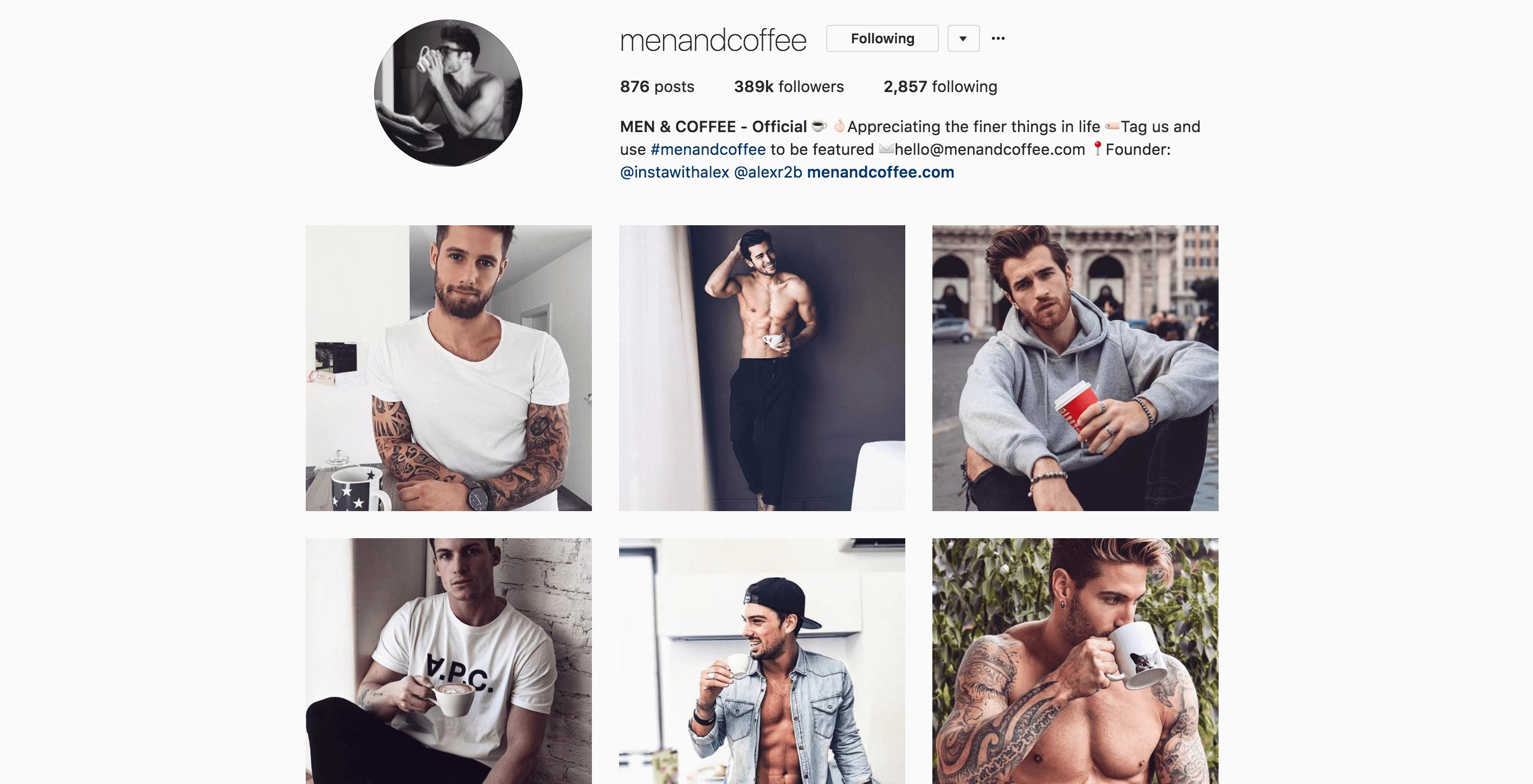 instagram influencer menandcoffee
