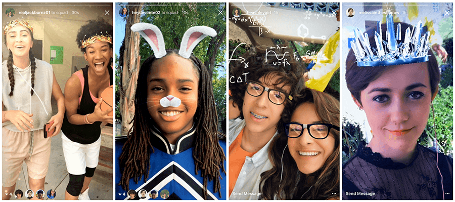 instagram stories face filters feature