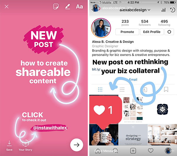 Instagram stories features announce something