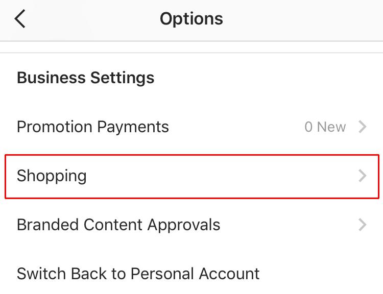 shoppable Instagram - settings