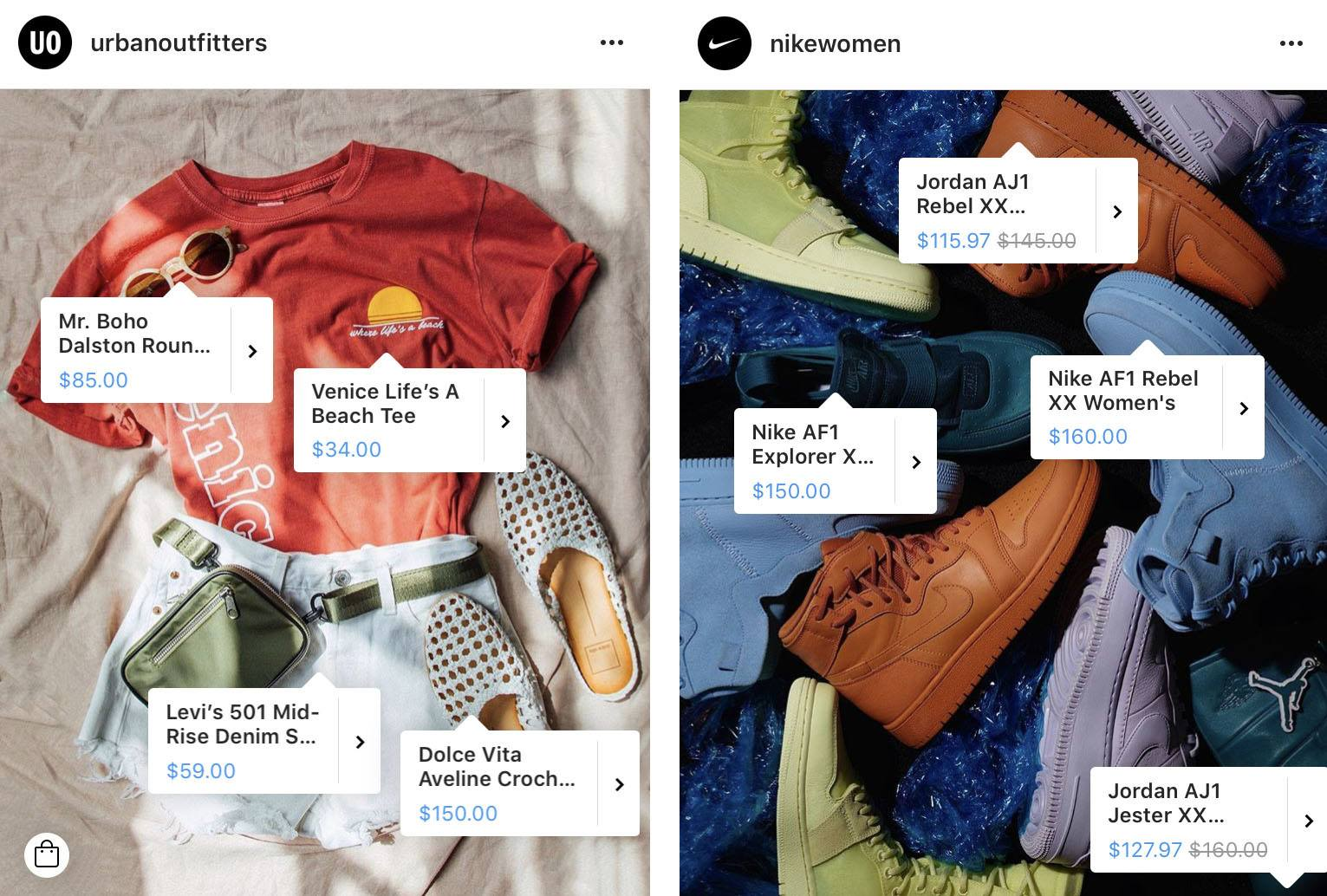 shoppable Instagram feeds