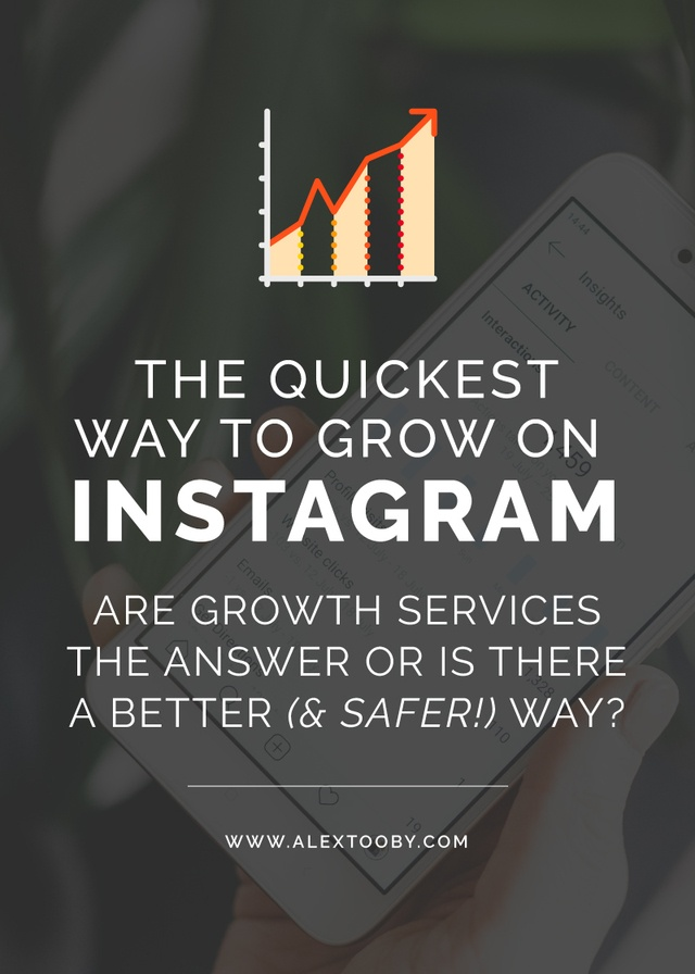Instagram growth services - are they the quickest way to grow your Instagram following or is there a better way? Checkout this post by Alex Tooby to find out!