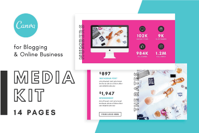 instagram tools blogger media kit canva