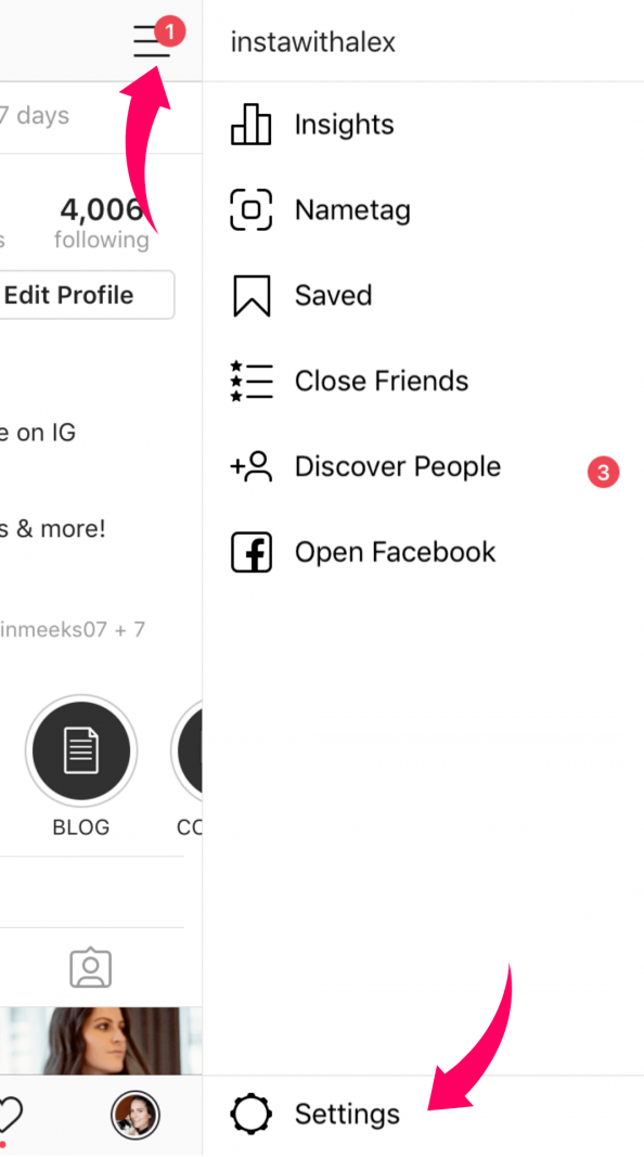 How to get verified on instagram settings