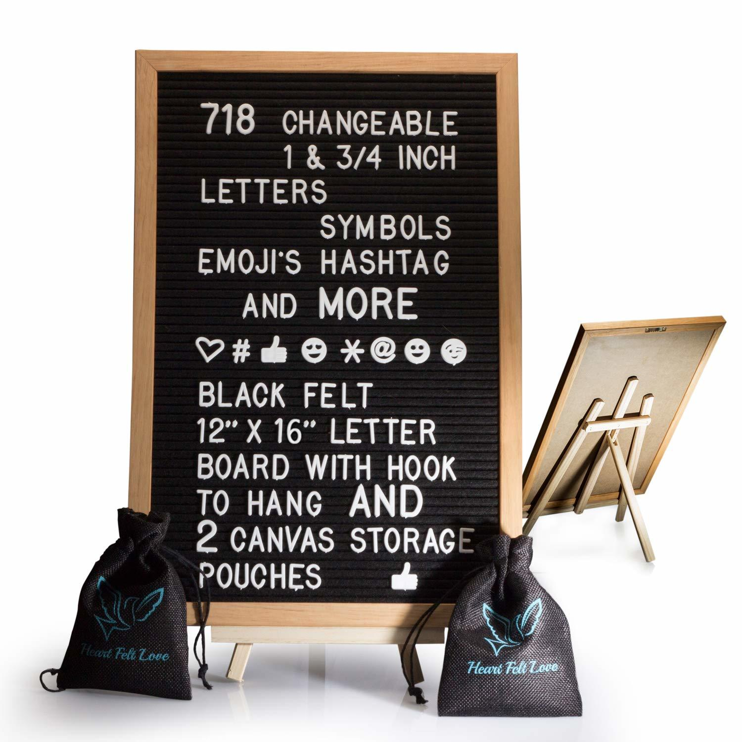 instagram tools black felt letter board