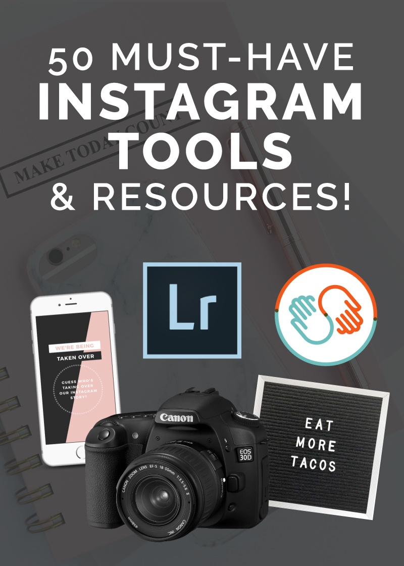 Growing your instagram takes so much more than just posting a pretty picture. You need to consider a theme, posting to stories, collecting emails and promoting something to name a few. To help you master all of these areas and make growing your instagram an absolute breeze, I've put together this list of 50 must have instagram tools! enjoy!
