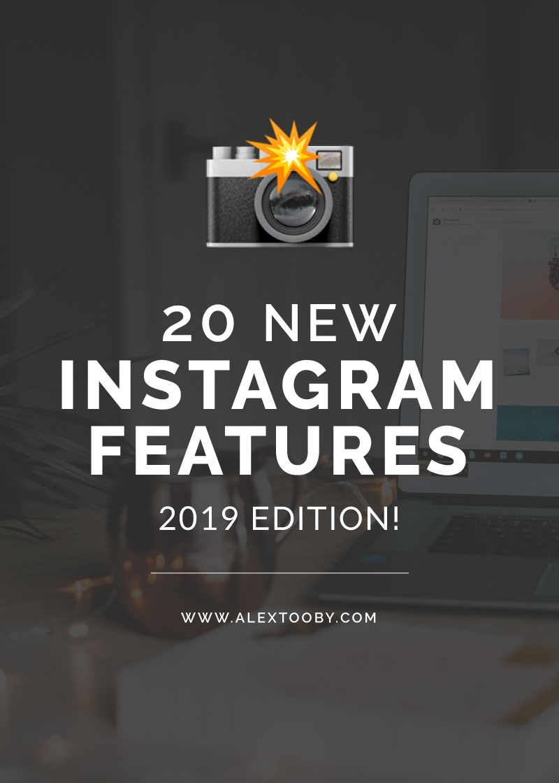 Instagram is constantly changing and it's so hard to keep up! This blog post breaks down the new Instagram update and goes over 20 new Instagram features you maybe haven't heard of! Check it out!