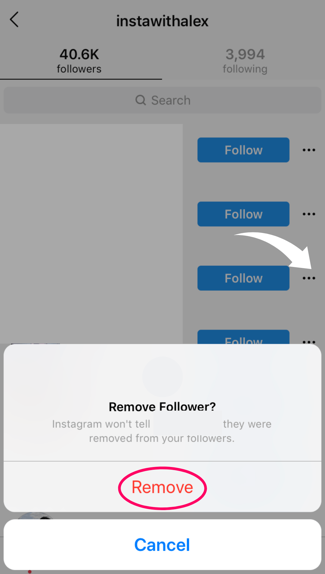 new instagram update - remove followers feature