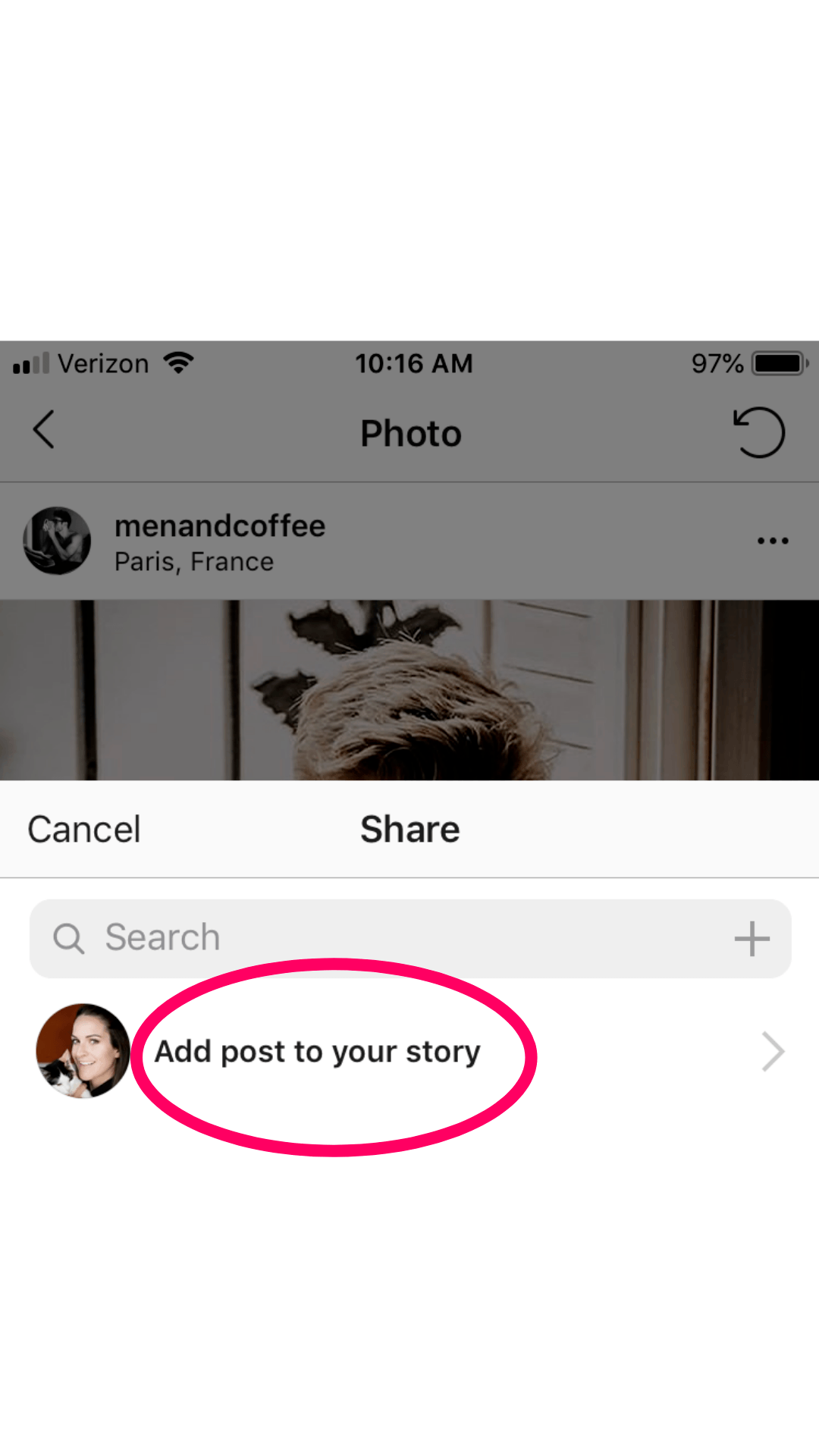 new instagram update - sharing posts to stories