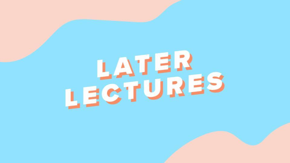 Later Lectures - Instagram Training