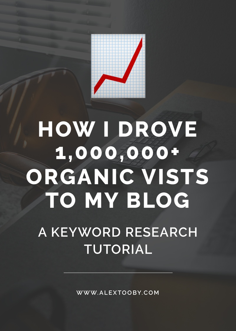 Need more traffic to your website? You need to be conducting keyword research and picking keywords specifically for your blog posts! This simple trick is what drove over 1 million organic visits to my site last year! Click to learn my keyword research method