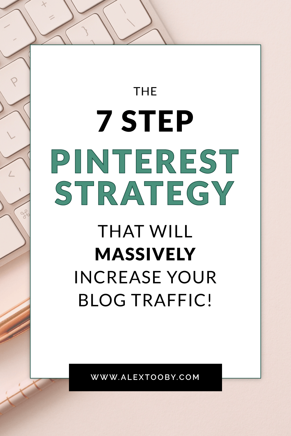 Using Pinterest but not seeing much traffic to your website or blog? Check out this 7 step strategy. It's simple, easy to implement and automated! #pinterestforbusiness #howtousepinterest