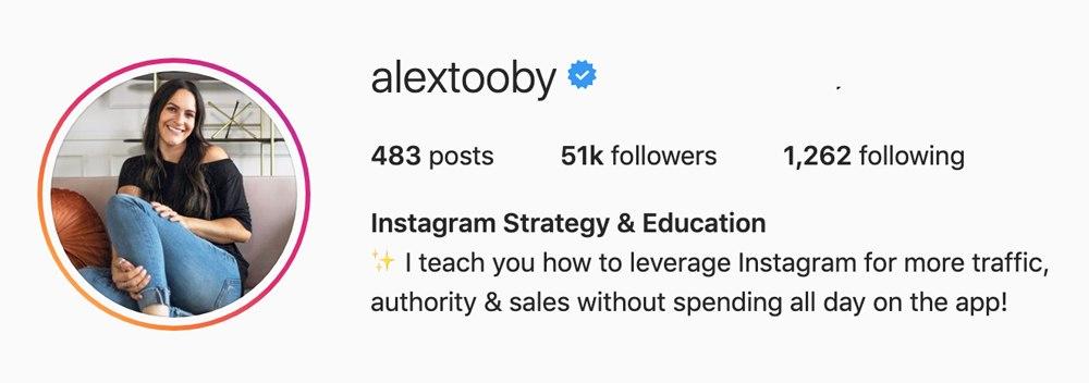 instagram masterclass - alex tooby