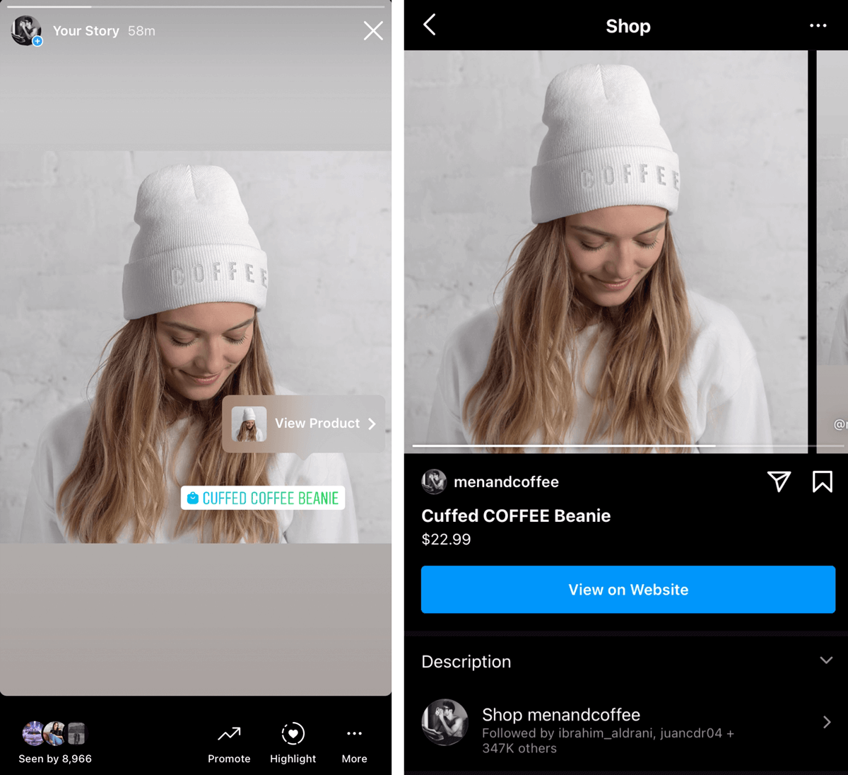 shoppable instagram - instagram product tagging